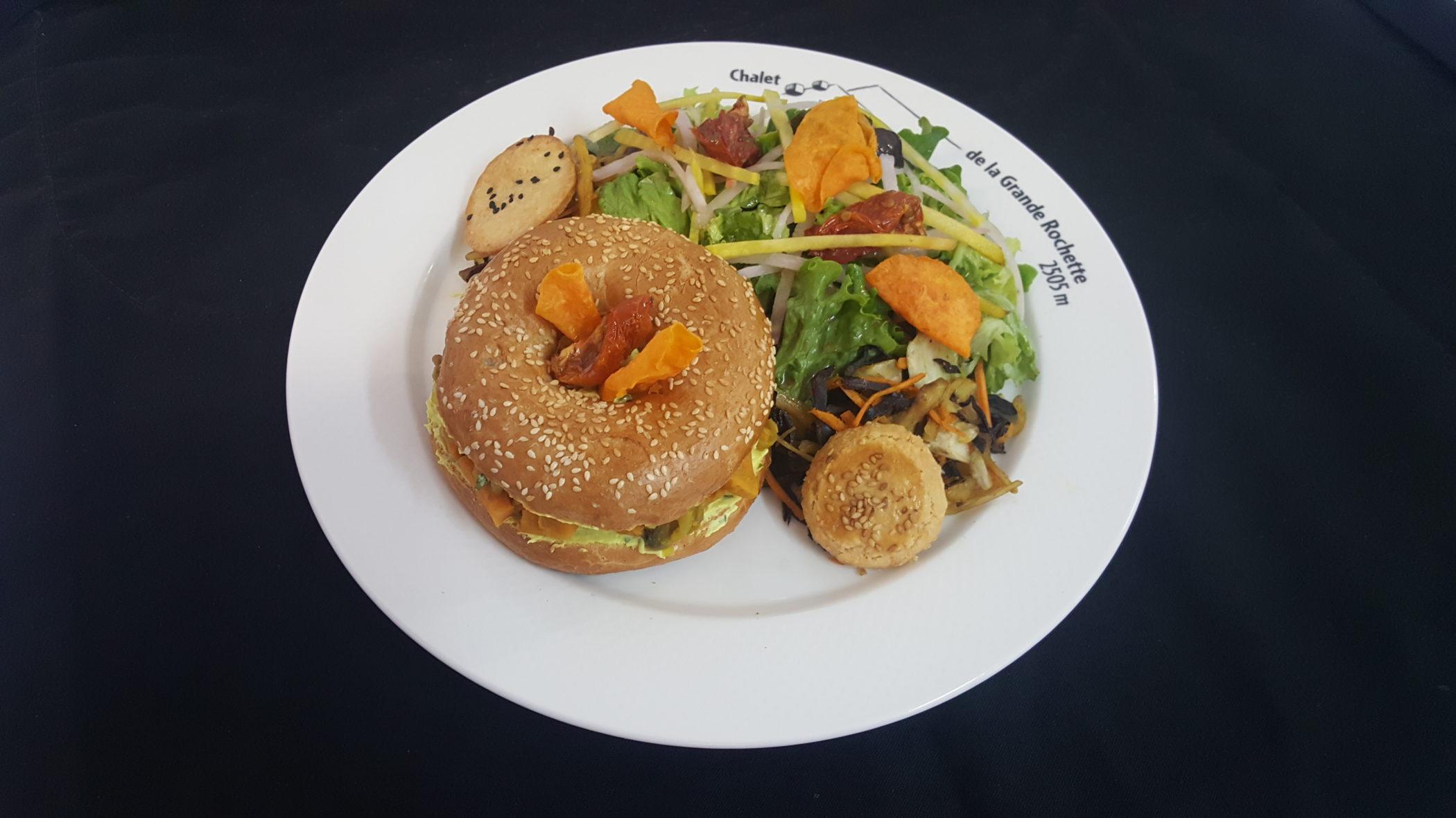 Bagel de légumes